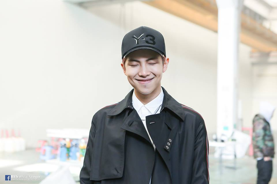 Kim Namjoon smile
