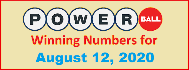 PowerBall Winning Numbers for Wednesday, August 12, 2020