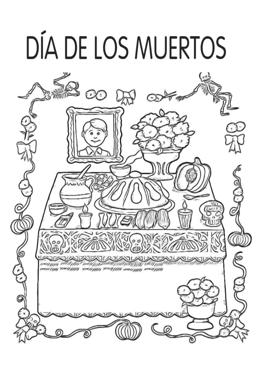 Dibujos Para Colorear Dia De Los Muertos Colorear Dibujos Infantiles