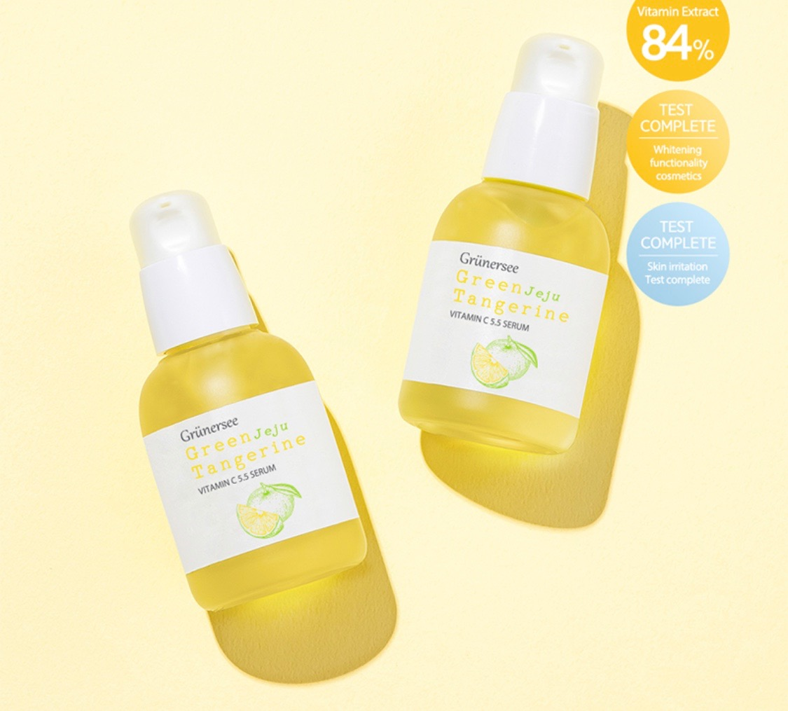 product review Grünersee Green Jeju Tangerine Vitamin C ...