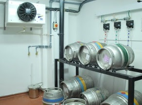Cellar cooling installation