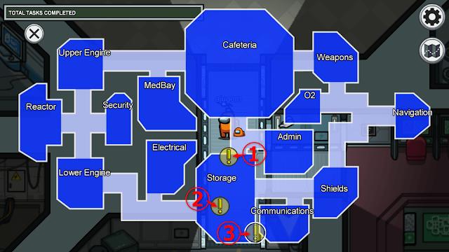 Storage(保管室)のタスクマップ説明画像