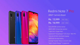 Redmi Note 7 Pro smartphone will sold only in India and China