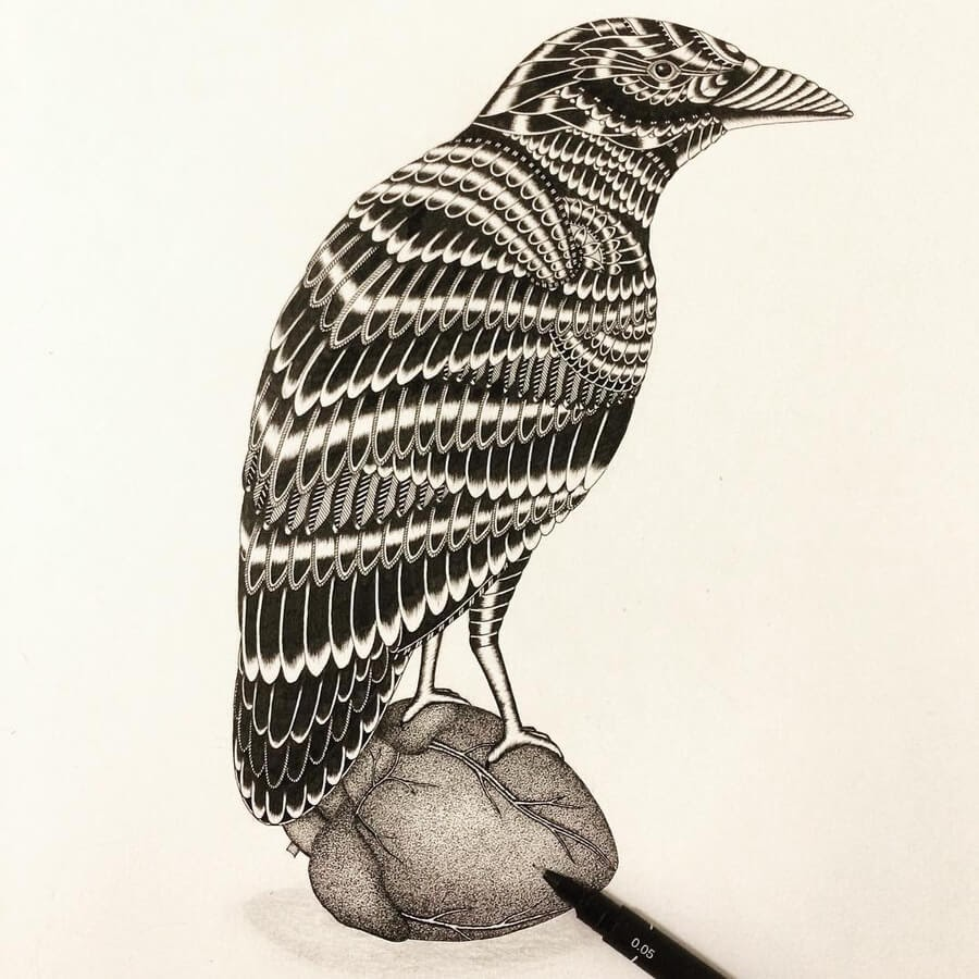 05-Zentangle-bird-on-heart-Stine-Lee-www-designstack-co