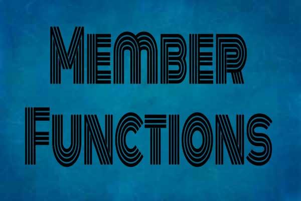 defining member functions in c++ programming