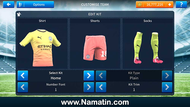 Baju Dream League Soccer M City
