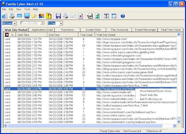 تحميل برنامج مراقبة الكمبيوتر بالعربي Family Cyber Alert