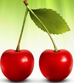 Foto de cerezas color rojo