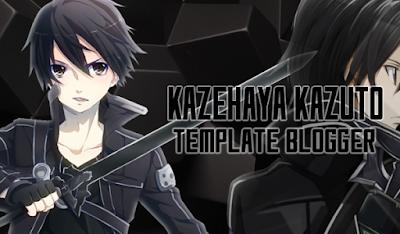 Kazehaya Kazuto Template Blogger