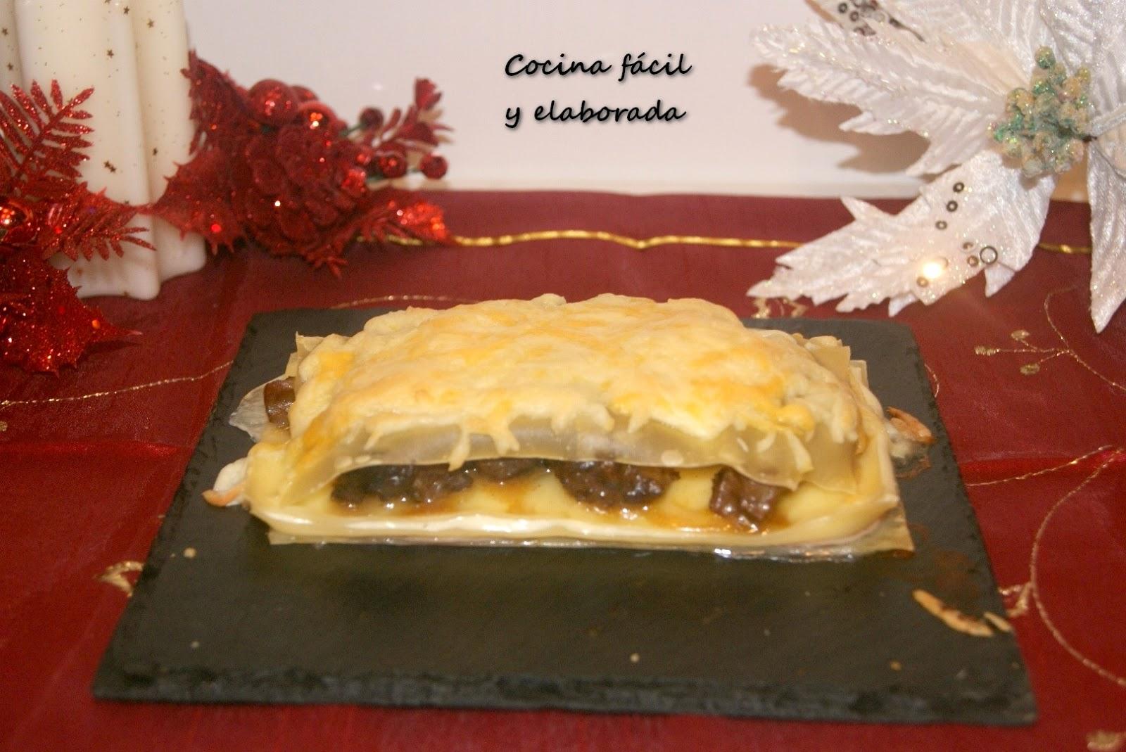 Cocina facil y elaborada lasa a de carrilleras en salsa for Cocina facil para navidad