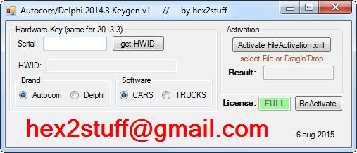 hex2stuff 2013: autocom / delphi 2014 release 3 keygen activator 2014.3 ( 2.14.3 activation
