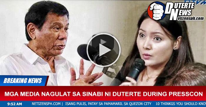 Mga Media Nagulat Sa Sinabi Ni Duterte During Presscon Panoorin!