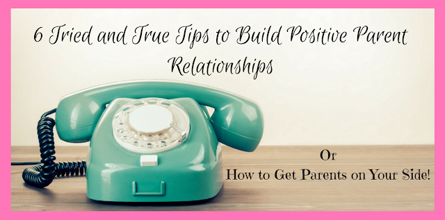 Getting parents to collaborate and work with you to support their child is so important. You can learn so much when you work together.  I think all teachers old or new will want to read this post and I think #6 is so important!