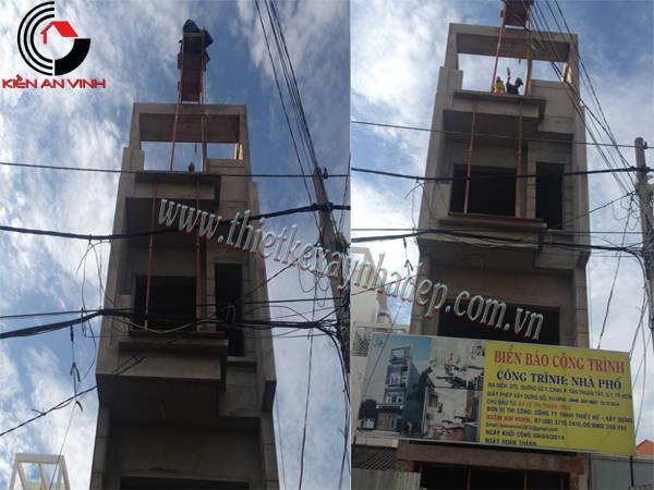 Thi công xây dựng nhà ống 2 tầng 5x15  chị Thủy ở Sóc Trăng Thi-cong-nha-pho-7
