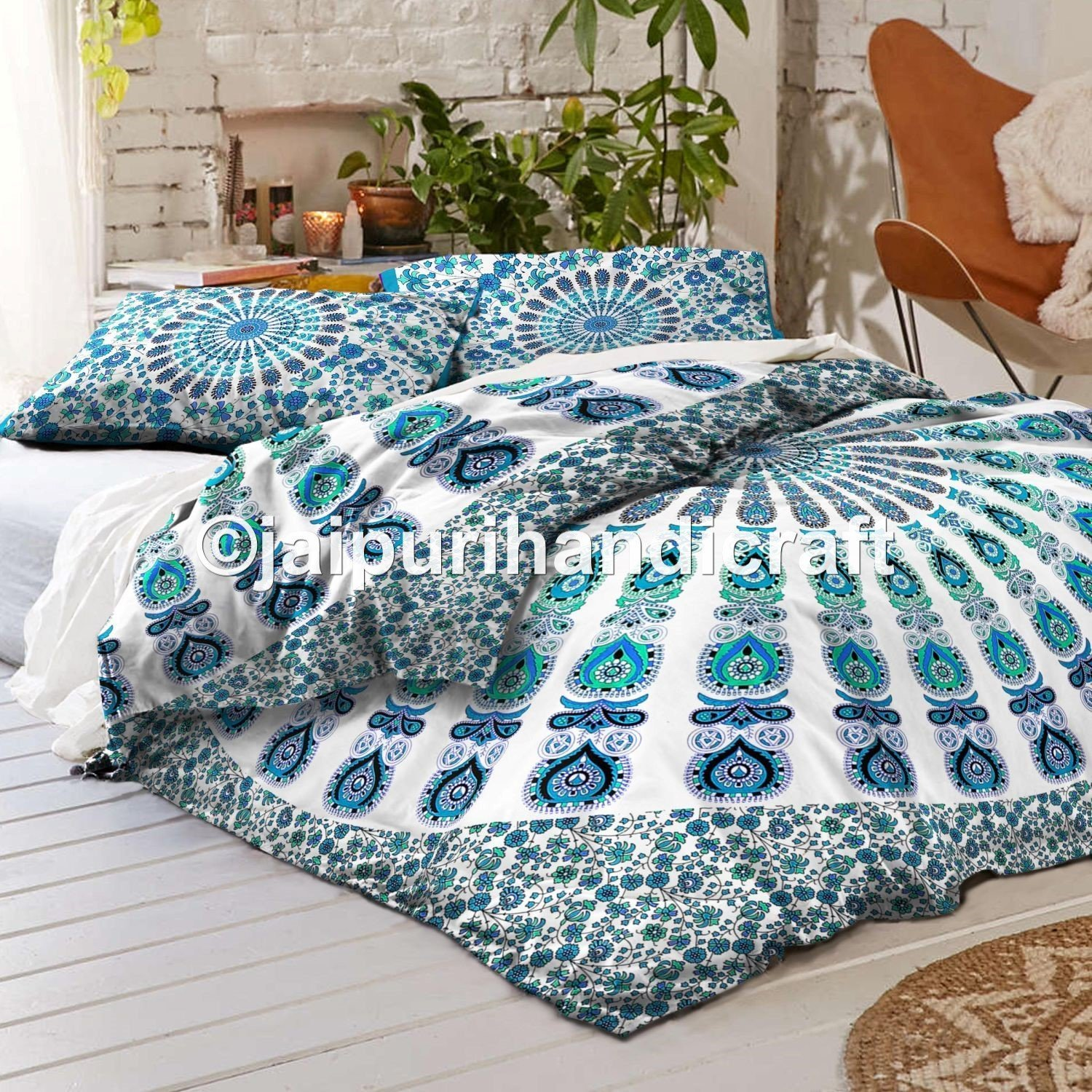 Black White and Turquoise Bedding Sets