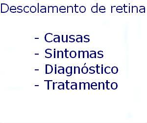 Descolamento de retina causas sintomas diagnóstico tratamento prevenção riscos complicações