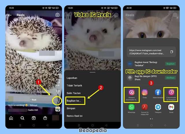 cara download video IG Reels menggunakan aplikasi