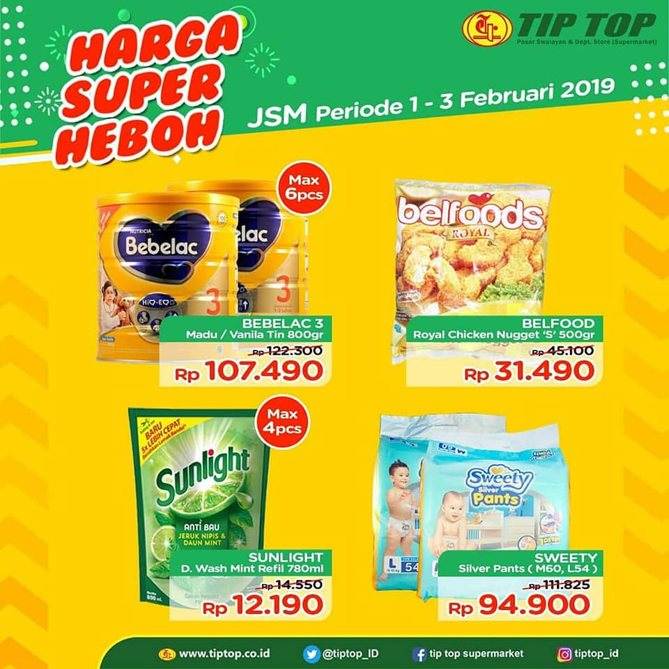 #TipTop - #Promo #Katalog JSM Periode 01 - 03 Februari 2019