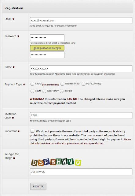 Pro typers registration procedure