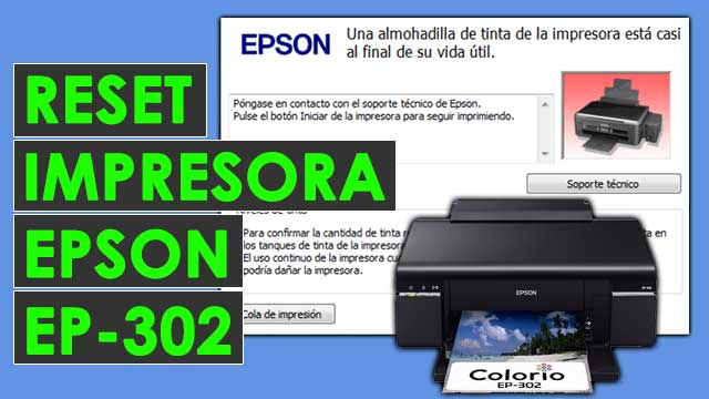 resetear almohadillas impresora Epson EP302
