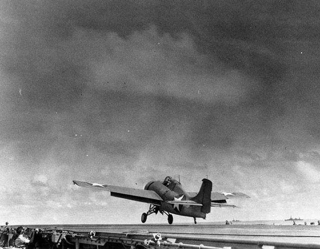 Wildcat on USS Enterprise 18 May 1942 worldwartwo.filminspector.com