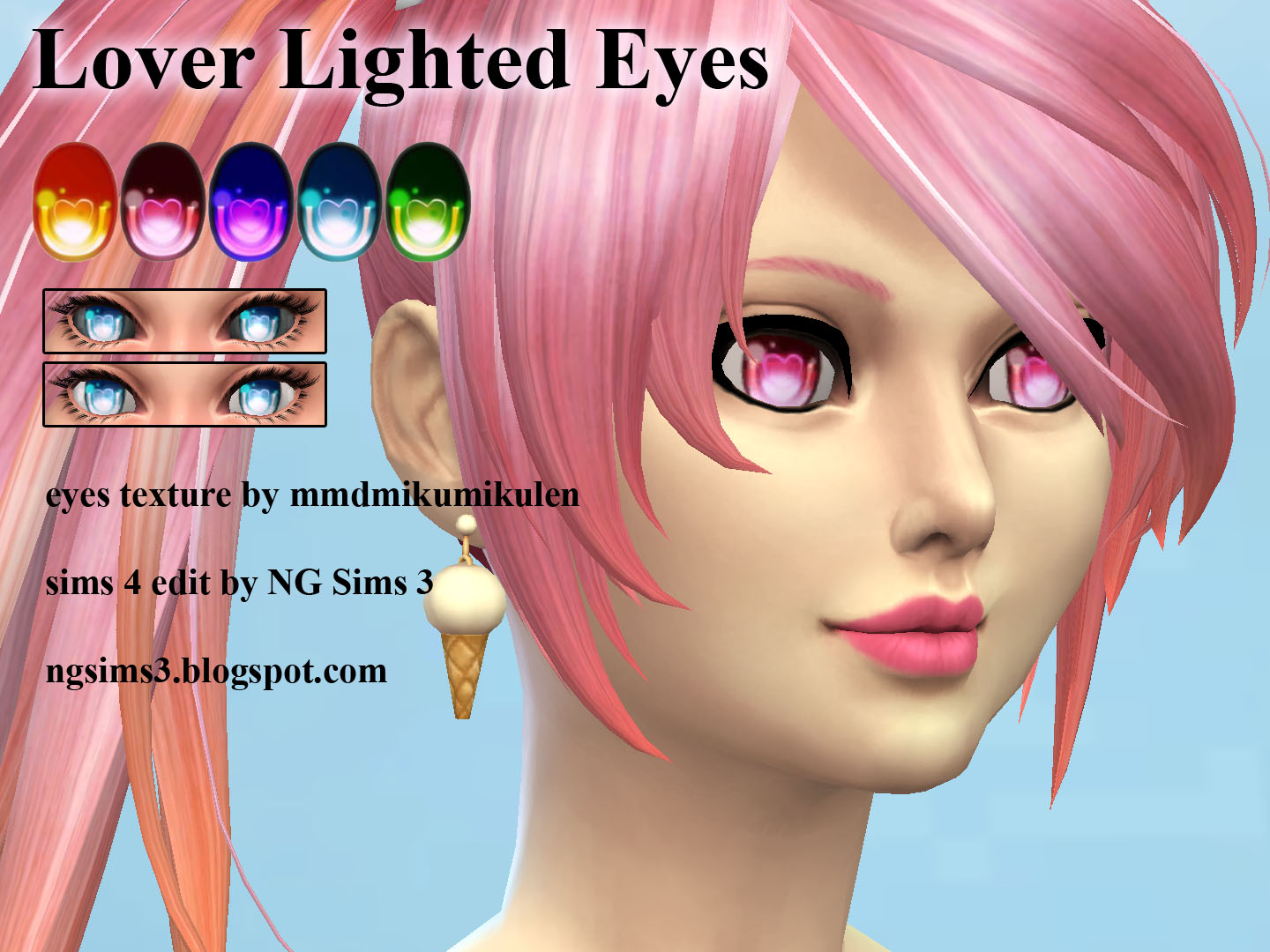 Anime Eyes Colors The Sims 4 _ P1 - SIMS4 Clove share Asia