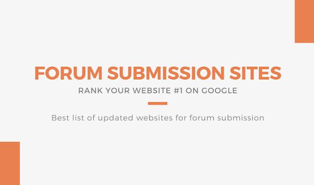 Forum Submission List 2020