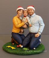 scultura ritratto famiglia da foto idea regalo natale moglie famiglia ricordo orme magiche