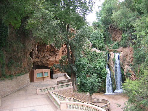 Cascada en el pueblo de Sefrou (Marruecos)