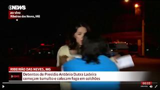 Resultado de imagem para repórter da Globo é agredida durante transmissão ao vivo; veja vídeo