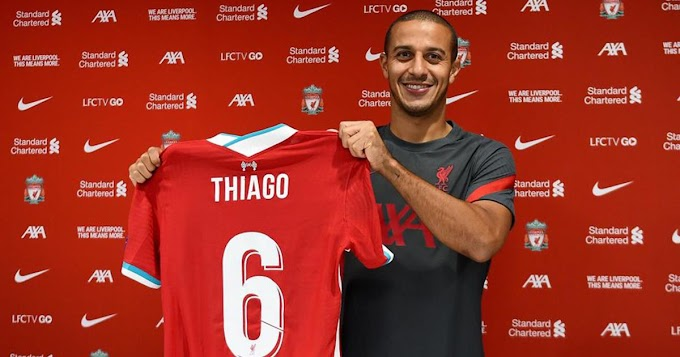 No Thiago Alcantara come back to Barcelona as he officially joins Liverpool for ₤25m