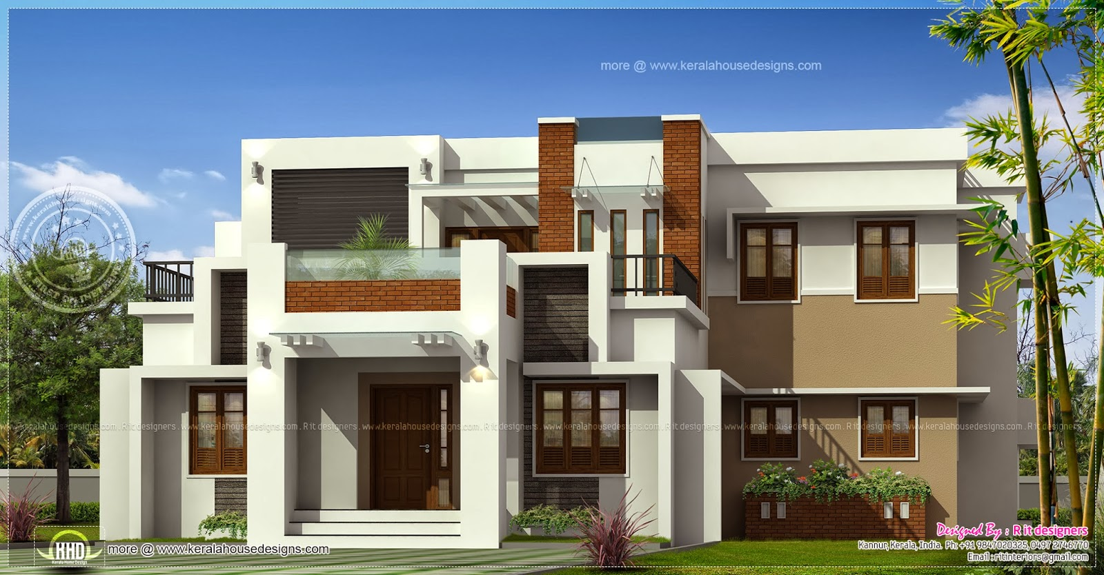 Modern contemporary luxury home design kerala home design and floor plans for Contemporary modern home designs