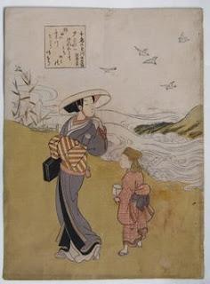 鈴木春信 六玉川 千鳥の玉川の浮世絵版画販売買取ぎゃらりーおおのです。愛知県名古屋市にある浮世絵専門店。