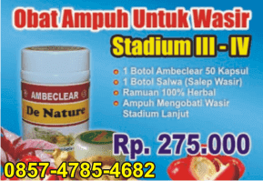 stadium obat herbal ambeien stadium 3