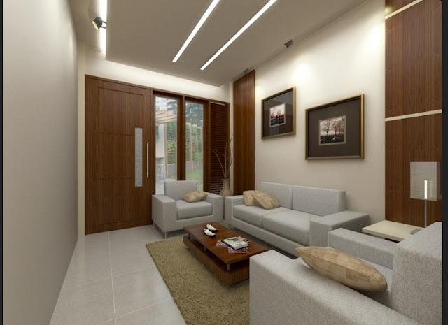 Contoh gambar 2 ruang tamu rumah minimalis modern dengan biaya murah