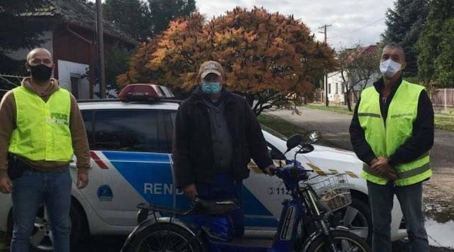 Rendőri segítséggel talált vissza gazdájához az Udvariból ellopott motor
