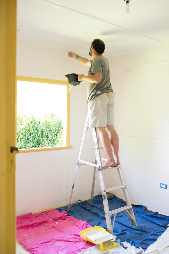ben painting second bedroom