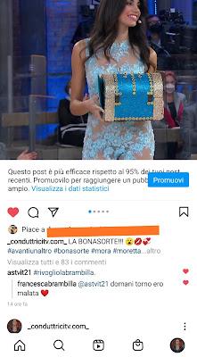conduttricitv pagina Instagram Fabrizia Santarelli 23 marzo