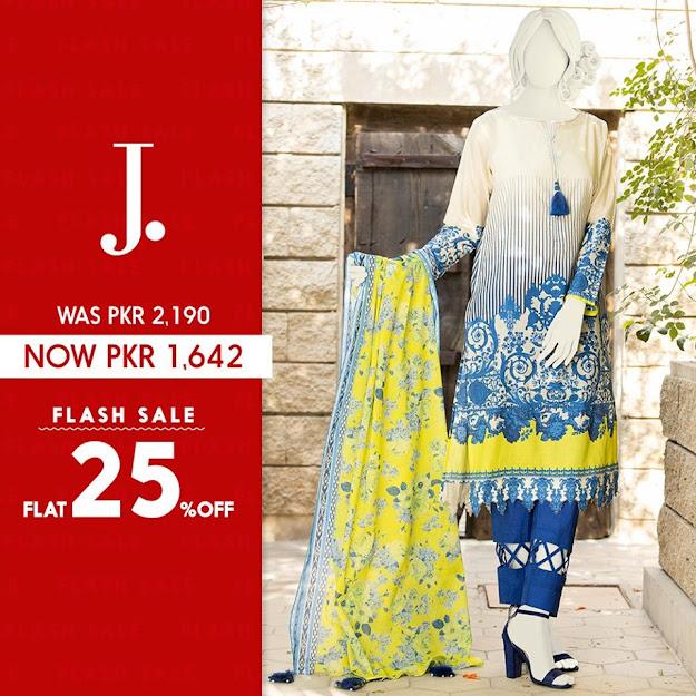 Junaid Jamshed Blue color lawn sale collection