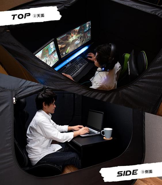 Butuh Privasi Lebih Saat Bermain PC? Tenda dari Jepang Ini Adalah Solusi Anda!