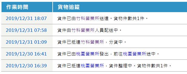 新竹物流貨物追蹤