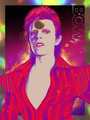 David Bowie Stardust Screen Print by Vance Kelly x ECHO