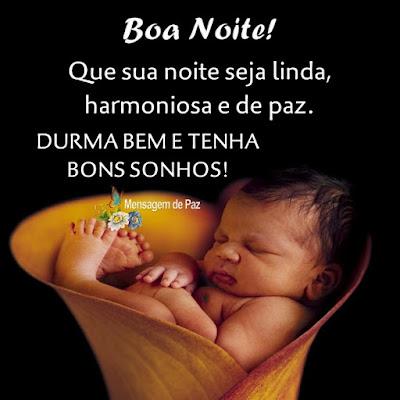 Que sua noite seja linda,  harmoniosa e de paz.  Durma bem e tenha  bons sonhos!  Boa Noite!
