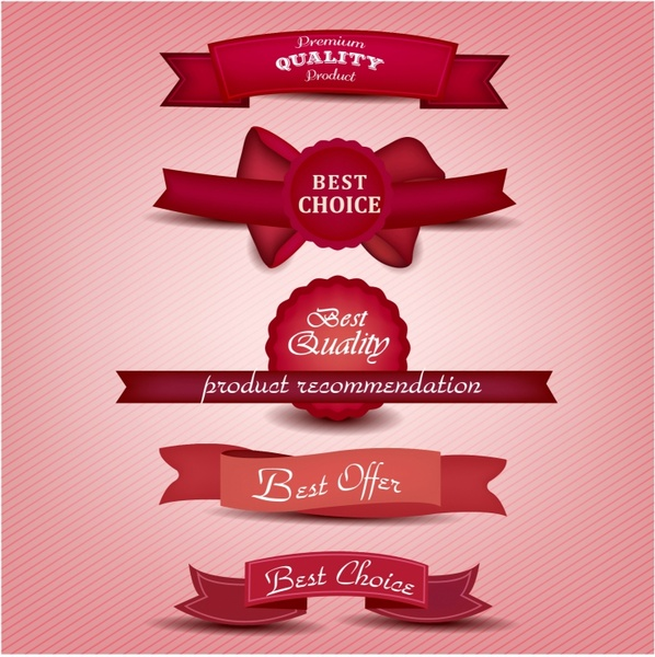 Superior Quality and Satisfaction Guarantee Ribbons Labels Free vector