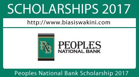 Peoples National Bank Scholarship 2017