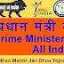 प्रधानमंत्री नरेंद्र मोदी की योजनाओं की लिस्ट -