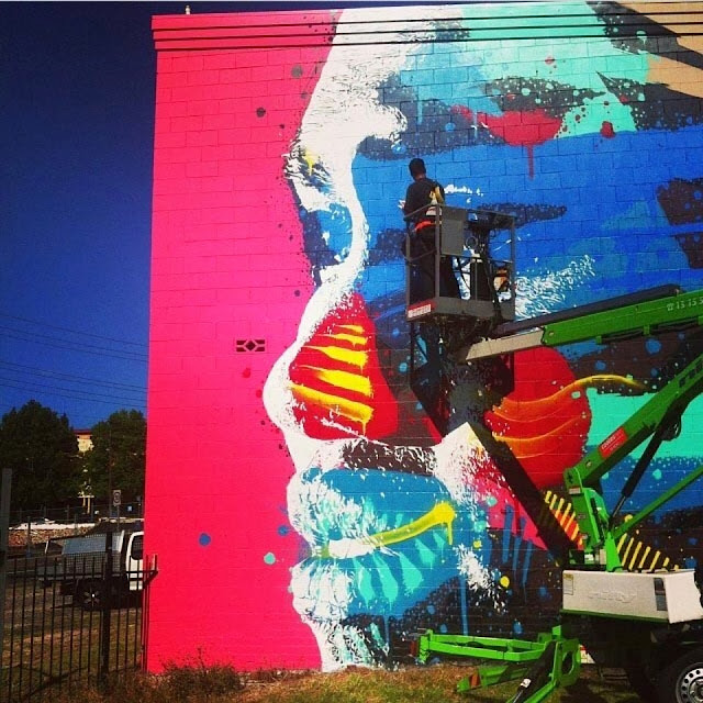 Street Art By Askew One For The Wonder Walls Festivals In Wollongong, Australia. 2