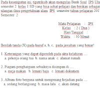 Soal-ujian-Ulangan-UAS-UKK-IPS-kelas-2-SD-Semester-2