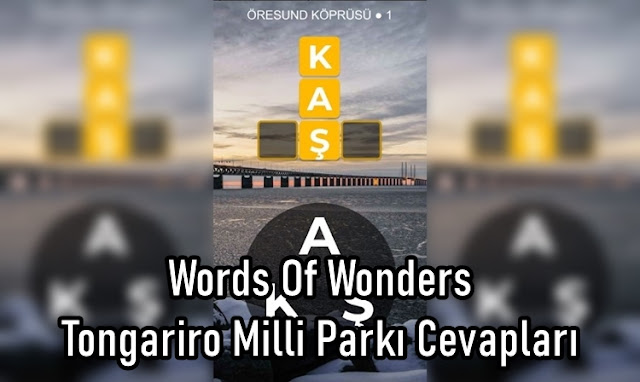 Words Of Wonders Tongariro Milli Parkı Cevaplar