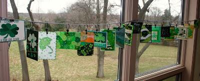 Display fabric postcards